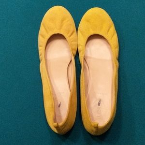 J.Crew Lemon Yellow 🍋 Ballet Flats